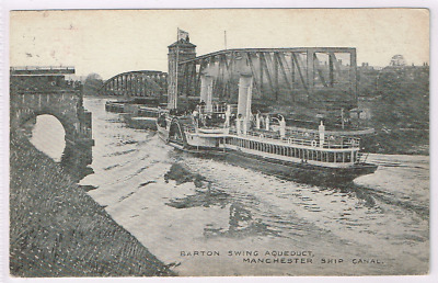 MANCHESTER - Barton Swing Bridge - Ship Canal - Paddle Steamer  - c1906