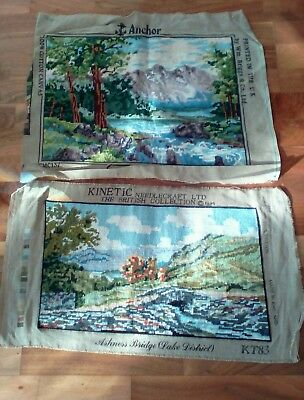 TWO Completed WOOL Tapestries LAKE District