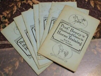 Horse Training booklets Prof. Beery illustrated course 1934 7 issues