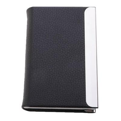 Business Card Holder Case/Wallet Stainless Steel & PU Leather Waterproof
