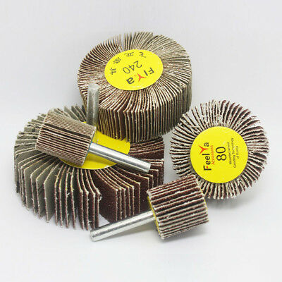 20~80mm Sanding Flap Grind Wheel Disc Abrasive Rotary Drill 6mm Shank 60~320Grit