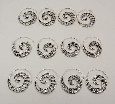 6Pcs. Lot Very Attractive 925 Silver Overlay Adorable Designer Earring KA10270