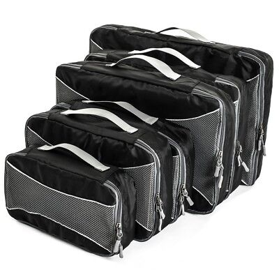 Set of 6 Packing Cube Bags Black.For Suitcases, Travel And Carry-on Luggage