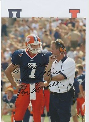 Ron Turner Fighting Illlini Head Coach 1997-2004 Original Hand Signed Photograph