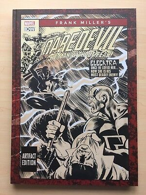 "Frank Miller's DAREDEVIL – ARTISTS Artifact EDITION 11x17"" SIN CITY Electra"