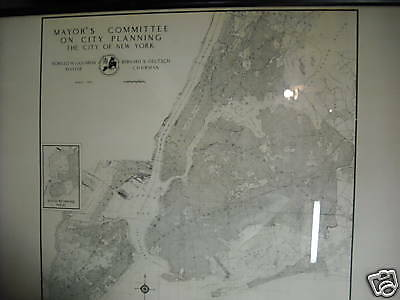 1935 Industrial New York City planning map