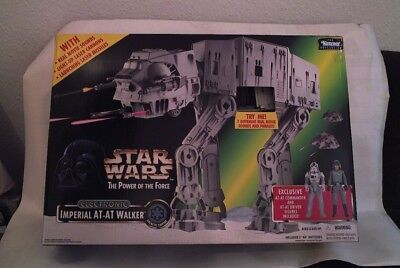 Star Wars POTF Imperial AT-AT Walker 1997 Power of the Force MIB Electronic