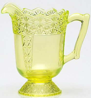 Pitcher - Queen Pattern - Vaseline Glass - Mosser USA