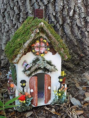 Miniature Dollhouse Fairy Garden House Fairies Cottage OOAK Handmade #