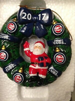 2017 Cubs Christmas Wreath Ornament (Collectors Item) NIB