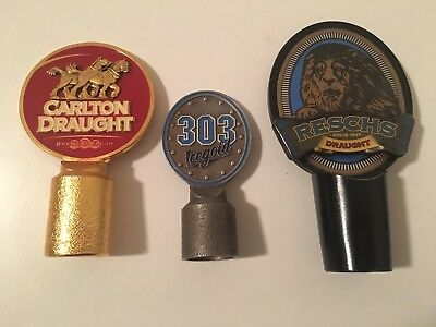 Metal Carlton Reschs Beer Tap Tops (3)