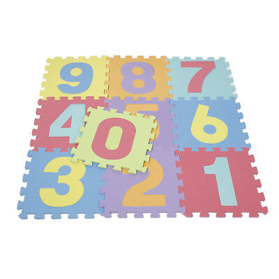 Kid Foam Learning 0 to 9 Numer Puzzle Floor Play Mats Tiles Exercise Gym YX