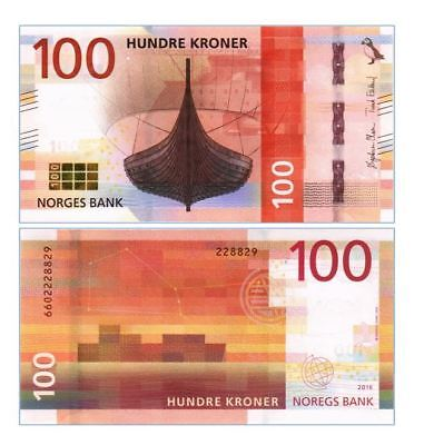 Norway 100 Kroner 2016/2017 P New Unc