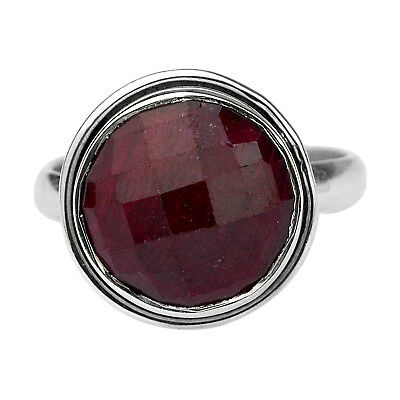 Natural Ruby Gemstone 925 Sterling Silver Jewelry Ring Size US 8.5 US 4.59 g