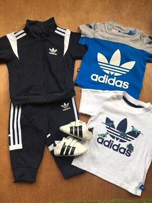 3-6m Adidas Tracksuit Superstar Trainers Tshirts Baby Boys Bundle Named Clothes