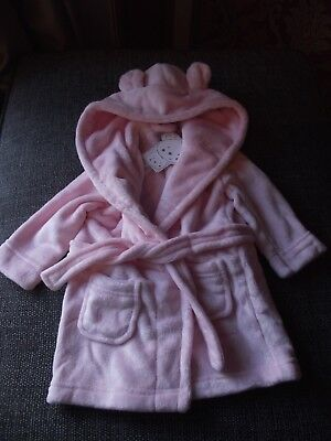 Baby Girls Dressing Gown with Bunny ears