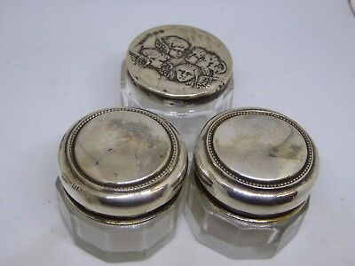 Pair of William Vale & Sons 1918 and Boots Pure Drug Company Cherubs Rouge Pots