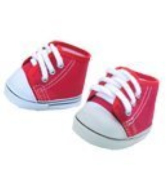 "Red ""Denim"" Shoes fits most 12"" Snuggl'ems, 8"" - 10"" Stuffed Animal kits & most"