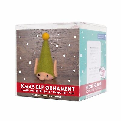 Christmas Elf Ornament Needle Felting Kit | Level Easy Suitable For Beginners