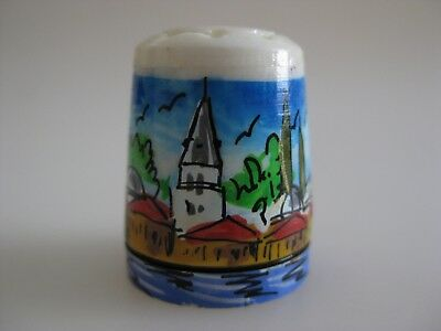 UNUSUAL Carved and Hand Painted Thimble