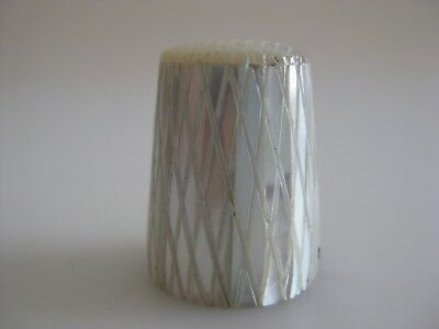 Unusual MOTHER OF PEARL Metal Thimble