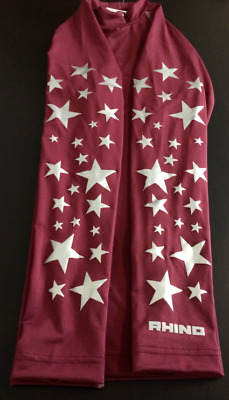 Cross Country Burgundy Base layer with silver stars  Size S/M ladies 10/12