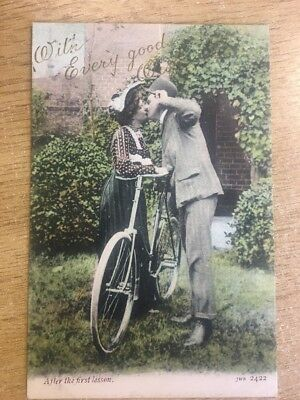 Romantic J Welch JWS 2422 Edwardian AFTER THE FIRST LESSON with Every Good Wish