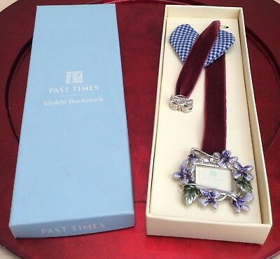New Past Times Violets Bookmark With Photo Frame