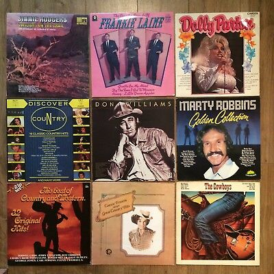 Country And Western Job Lot LP Vinyl Records