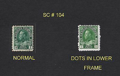 Stamps - Canada - Used Sc#104 Unlisted Variety???