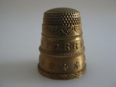 Brass Metal Thimble FORGET ME NOT and I LOVE YOU