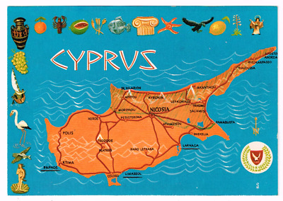 CYPRUS - MAP CARD - Turkish Occupation Message - c1981