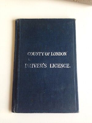 1922 County Of London Driver's Licence