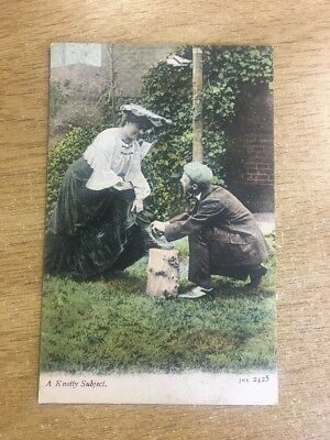 Romantic - J Welch JWS 2425 - Edwardian A KNOTTY SUBJECT with A Merry Xmas
