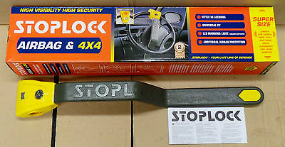 Stoplock Airbag & 4x4 High Security Steering Wheel Lock Clamp - NEW