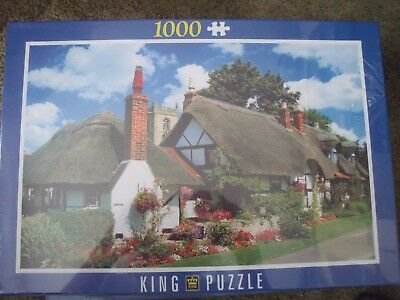 New Sealed in Cellophane 1000 King Puzzle Jigsaw Cottage Welford-On-Avon England