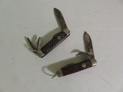 Boy Scout Knife-Bsa-Ulster-Lot Of 2-One Has Bsa Logo On Blade-Vintage Boy Scouts