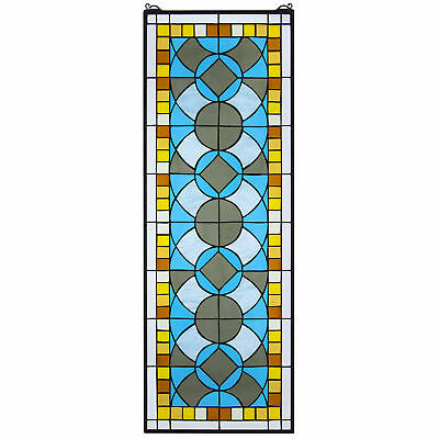 Design Toscano Boundless Rhythm Stained Glass Window Panel