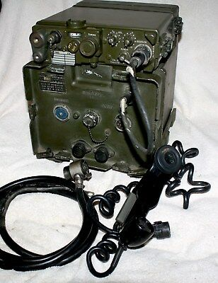 Signal Corps Rt-176/prc-10 Transceiver (Working).  Includes Am-598/u  And Mount