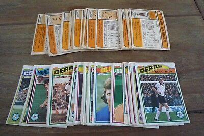 58/396 Topps Orange Backed Football Cards From 1978 - GC!