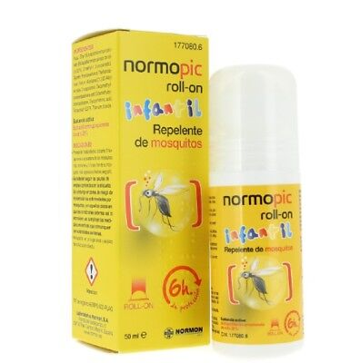 Repelente anti mosquitos normopic infantil roll-on 50 ml.