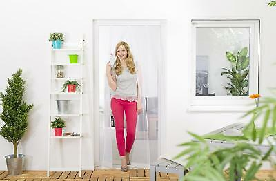 Insect Protection Fly Screen Door curtain Door curtain 100 x 220 cm white