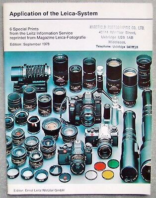 Application Of The Leica System. September 1978