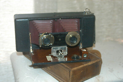 STEREO HAWKEYE MODEL No1. by BLAIR CAMERA Co, ROCHDALE N.Y  Patented 1895