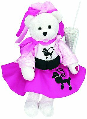 "Chantilly Lane ""Olivia"" Bear with Poodle Skirt Sings ""You're The One That I 19"""