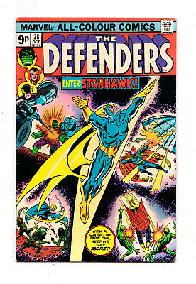 DEFENDERS #28 (1st full StarHawk appearance)