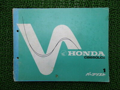 HONDA Genuine Used Motorcycle Parts List CB650LC Edition 1 RC05-1006003~