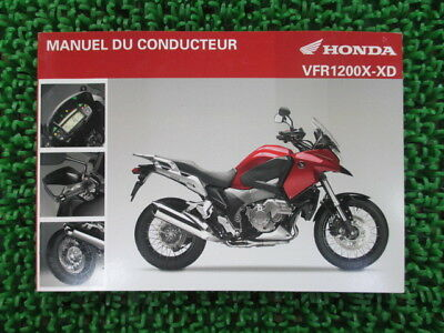 HONDA Genuine Used Motorcycle Instruction Manual VFR1200X-XD SC70 in English