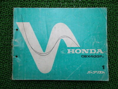 HONDA Genuine Used Motorcycle Parts List CBX400F Edition 1 NC07