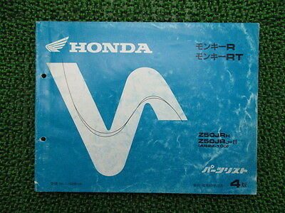 HONDA Genuine Used Motorcycle Parts List Monkey R RT Edition 4 Z50JR AB22-100